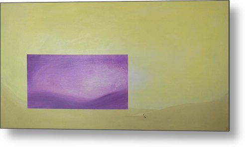 Abstract Metal Print featuring the painting Change by Bojana Randall