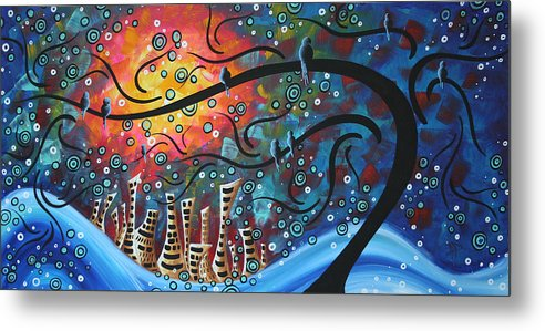 Art Metal Print featuring the painting City By The Sea By Madart by Megan Duncanson