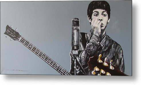 Paul Mccartney Metal Print featuring the painting D-note by Eric Dee