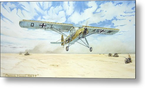 Wwii Metal Print featuring the painting Desert Storch by Marc Stewart