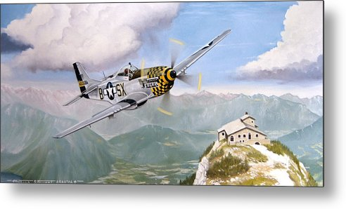 Military Metal Print featuring the painting Double Trouble Over The Eagle by Marc Stewart
