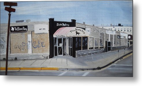Acrylic Painting Of The Stone Pony Metal Print featuring the painting End Of An Era by Patricia Arroyo