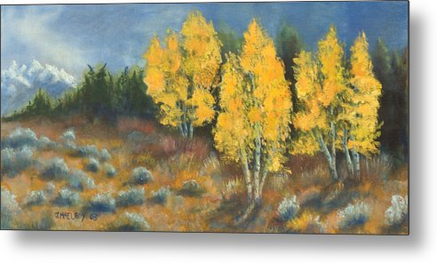 Landscape Metal Print featuring the painting Fall Delight by Jerry McElroy