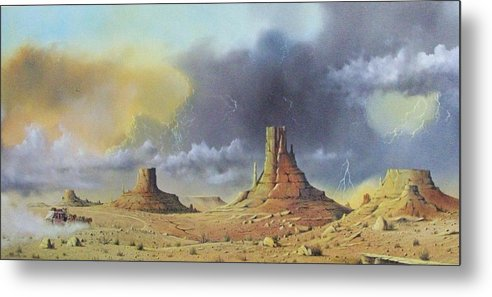 Landscape Metal Print featuring the painting Making Up Time by Don Griffiths