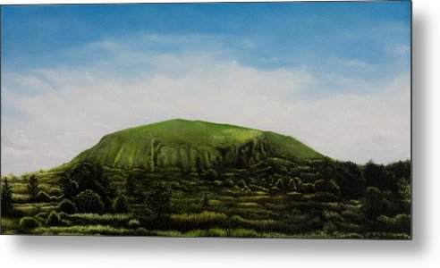 Landscape Metal Print featuring the painting Mount Coolum by Joe Michelli