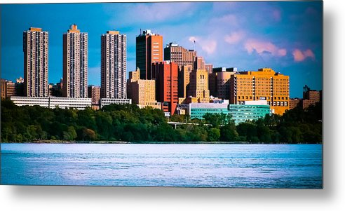 Building Color River Nyc Skyline Landscape Cityscape Hudson Metal Print featuring the photograph Nyc 959 by Arthur Sa
