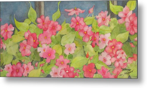 Flowers Metal Print featuring the painting Perky by Mary Ellen Mueller Legault