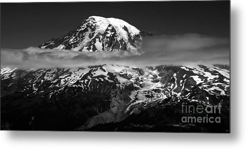 Fine Art Photography Metal Print featuring the photograph Tahoma by David Lee Thompson