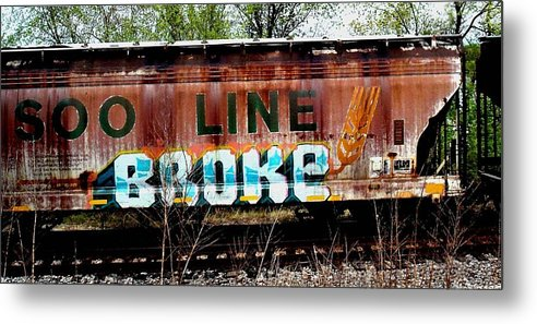Box Car Metal Print featuring the photograph The Soo Broke Line by Diane Young