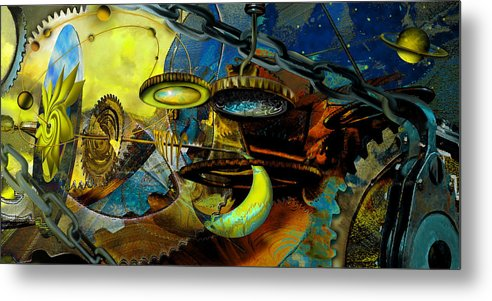 Science Metal Print featuring the painting The Wheelwork Of Antikythera by Anne Weirich