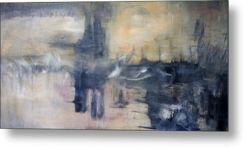 Cityscape Metal Print featuring the painting Untitled by Shawnequa Linder