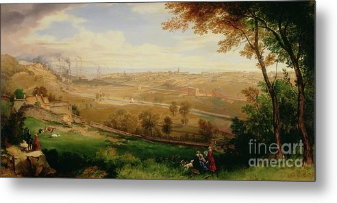View Metal Print featuring the painting View Of Bradford by William Cowen