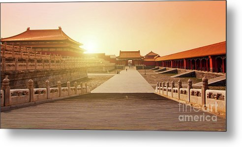 Forbidden City Metal Print featuring the photograph Inside The Forbidden City by Delphimages Photo Creations