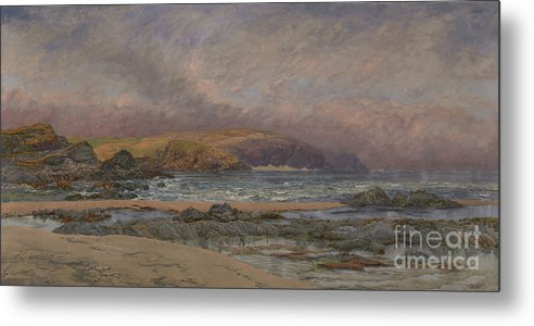 Seascape Metal Print featuring the painting Trevose Head by John Brett