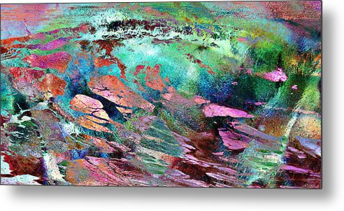 Large Abstract Metal Print featuring the mixed media Guided By Intuition - Abstract Art by Jaison Cianelli