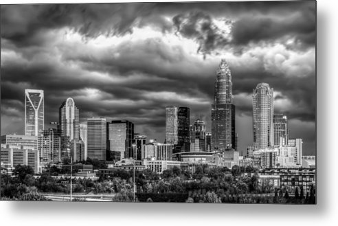Charlotte Metal Print featuring the photograph Ominous Charlotte Sky by Chris Austin