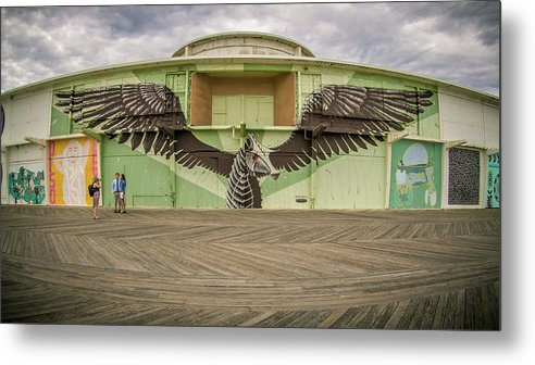 Asbury Park Metal Print featuring the photograph Seahorse by Steve Stanger