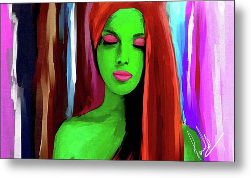 Portrait Metal Print featuring the digital art Peace by Manish Biswas