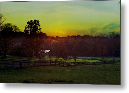 Sunrise Metal Print featuring the photograph 101908-1 by Mike Davis