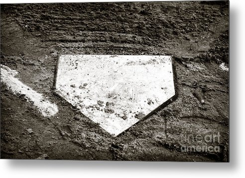 Home Plate Metal Print featuring the photograph Home Plate by John Rizzuto