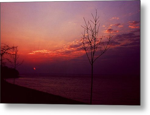 Sunset Metal Print featuring the photograph 112601-20 by Mike Davis