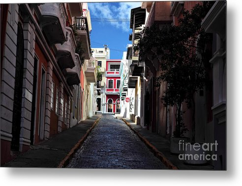 San Juan Alley Metal Print featuring the photograph San Juan Alley by John Rizzuto