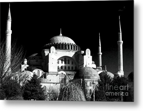 Sultanhmet Metal Print featuring the photograph Aya Sofya by John Rizzuto