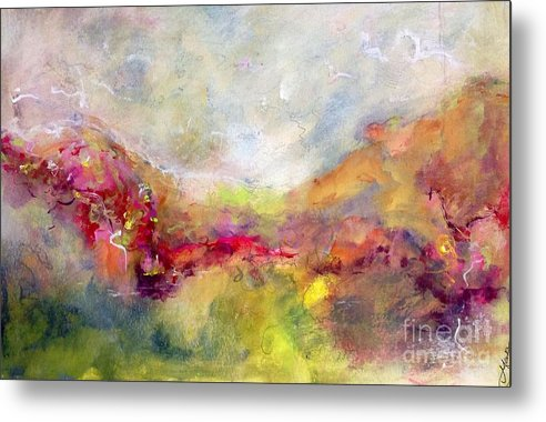 Vibrant Outlook Metal Print featuring the painting Vibrancy by Gail Butters Cohen
