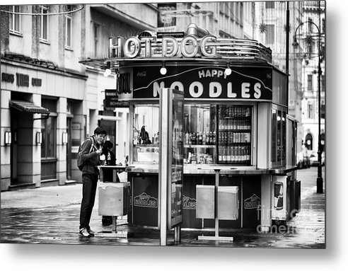 Hot Dogs Or Noodles Metal Print featuring the photograph Hot Dogs Or Noodles by John Rizzuto