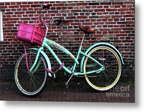 My Bike Metal Print featuring the photograph My Bike by John Rizzuto