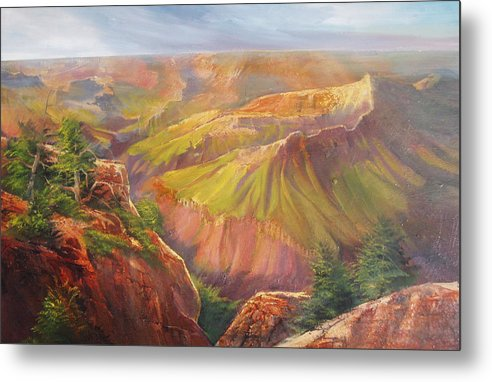 Grand Canyon Metal Print featuring the painting Grand Canyon by Robert Carver