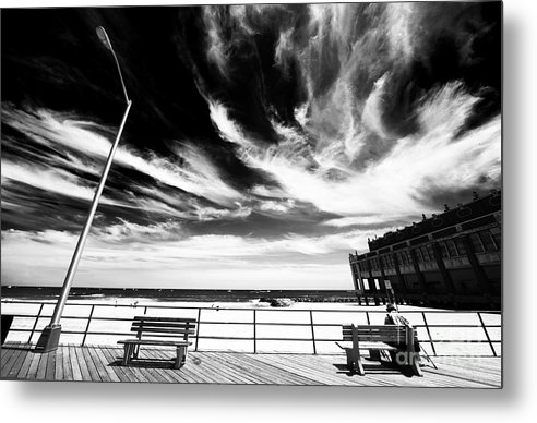 Asbury Park Metal Print featuring the photograph Alone In Asbury Park by John Rizzuto