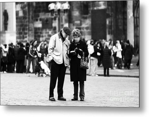 Pictures Metal Print featuring the photograph Tourists by John Rizzuto