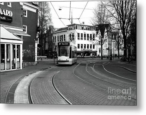 Tram Is Coming Metal Print featuring the photograph Tram Is A Coming by John Rizzuto