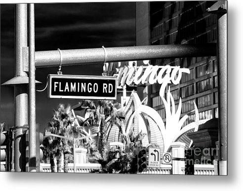 Flamingo Road Metal Print featuring the photograph Flamingo Road Las Vegas by John Rizzuto