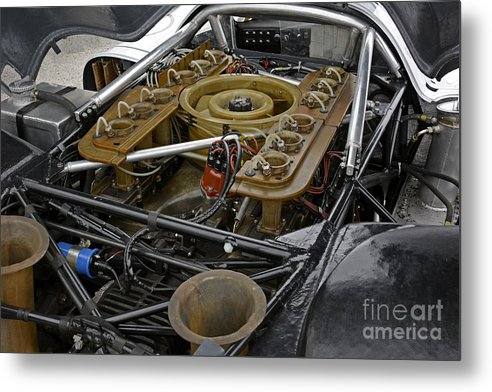 Automobile Metal Print featuring the photograph 1970 Porsche 917k Engine by Tad Gage