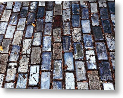 Brick Street Metal Print featuring the photograph Brick Street by John Rizzuto
