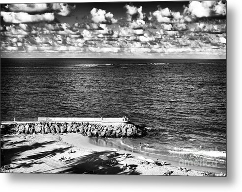 Looking Out Into The Ocean Metal Print featuring the photograph Looking Out Into The Ocean by John Rizzuto