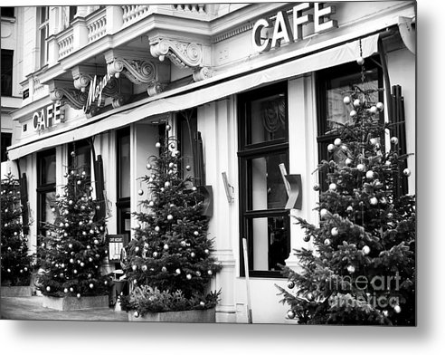 Mozart Cafe Metal Print featuring the photograph Mozart Cafe by John Rizzuto