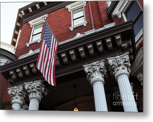 Patriotic Savannah Metal Print featuring the photograph Patriotic Savannah by John Rizzuto