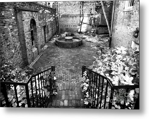 The Courtyard At The Old North Church Metal Print featuring the photograph The Courtyard At The Old North Church by John Rizzuto