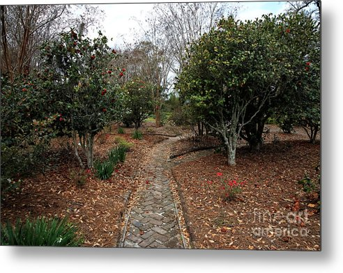 The Stone Path Metal Print featuring the photograph The Stone Path by John Rizzuto
