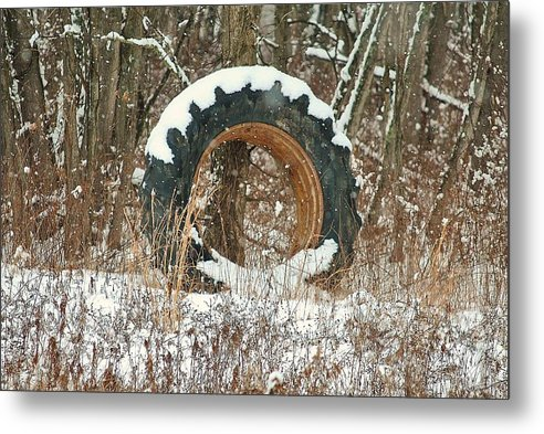 Metal Print featuring the photograph Tractor Tire by Jeffrey Randolph
