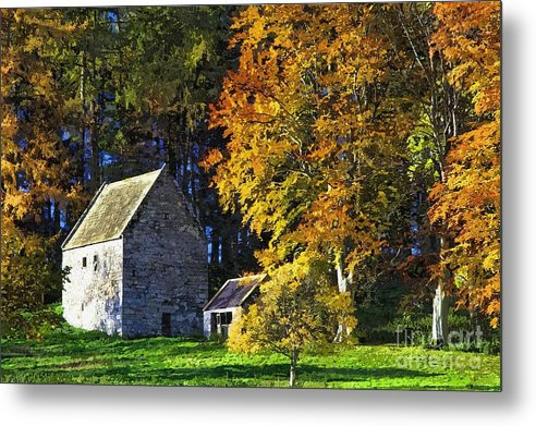 Woodhouses Bastle Metal Print featuring the photograph Woodhouses Bastle Northumberland - Photo Art by Les Bell