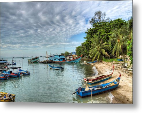 Fishing Village Metal Print featuring the photograph Fishing Village by KH Lee