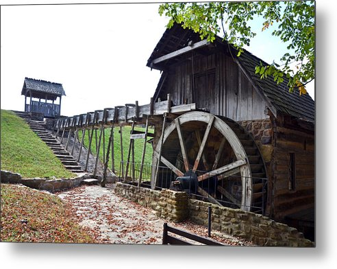 Photographs Metal Print featuring the photograph Grist Mill 1 by Franklin Conour