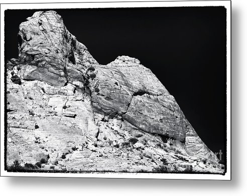 Portrait Of A Rock Metal Print featuring the photograph Portrait Of A Rock by John Rizzuto