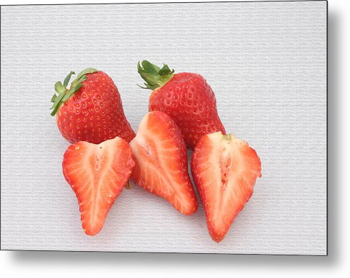 Strawberry Still Life Metal Print featuring the photograph Still Life by Bill Thomas