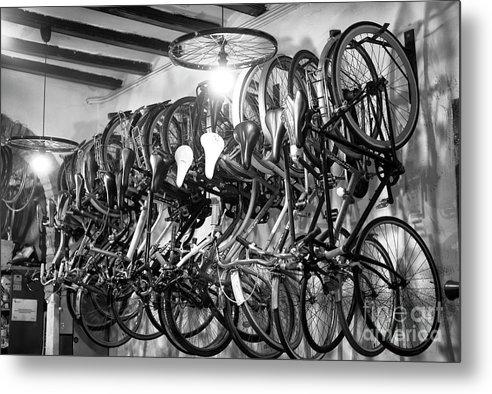 Barcelona Bike Shop Metal Print featuring the photograph Barcelona Bike Shop by John Rizzuto