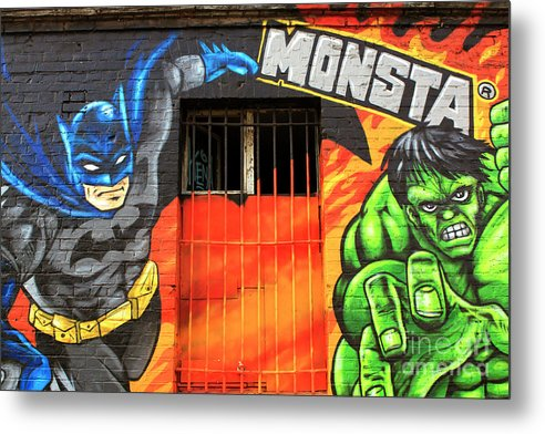 Berlin Wall Monsta Door Metal Print featuring the photograph Berlin Wall Monsta Door by John Rizzuto